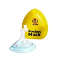 Pocket Mask w/Gloves & Wipe in Yellow Hard Case (each)
